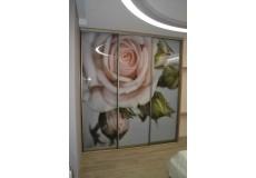 Шкаф купе с фотопечатью розы