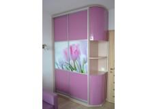 Шкаф с фотопечатью тюльпаны