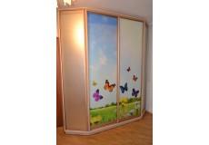 Шкаф с фотопечатью бабочки